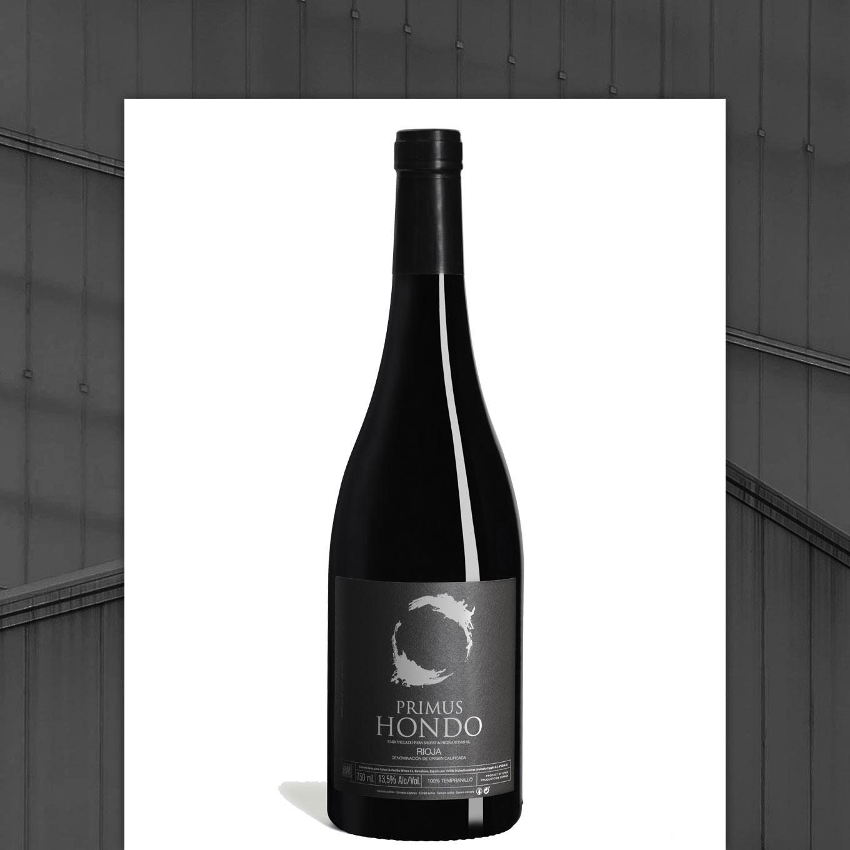 botella de vino primus hondo de la rioja alta